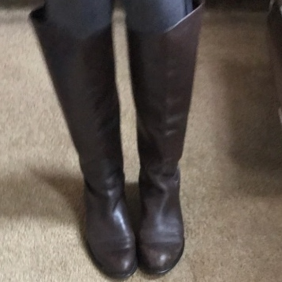 d4b41ee57 Franco Sarto Shoes | Castor Riding Boots Brown Leather 95 | Poshmark